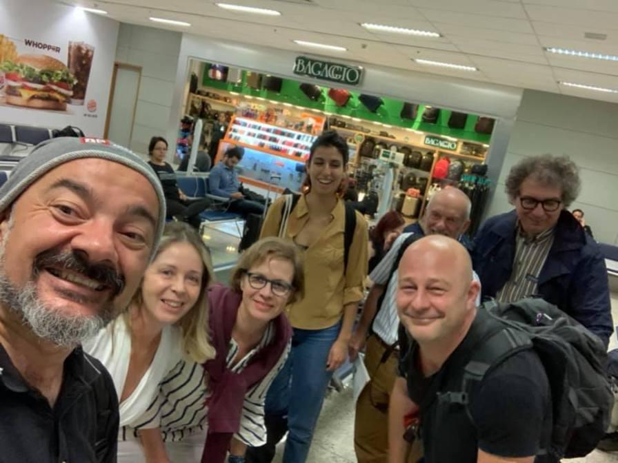 Ana Clara Moura, Alenka Poplin, Chiara Cocco, Brian Orland and Michele Campagna